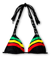 Empyre Girls Oasis Lattice Rasta Triangle Bikini Top