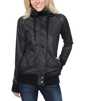 Empyre Girls Oracle Black Galaxy Tech Fleece Jacket