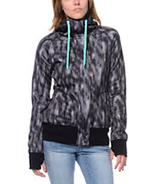 Empyre Girls Oracle Grey Animal Camo Tech Fleece Jacket