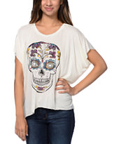 Empyre Girls Orinda Skull White Dolman Top