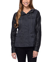 Empyre Girls Quincy Charcoal & Black Military Jacket