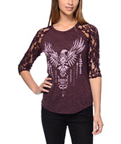 Empyre Girls Richland Blackberry Purple Lace Top