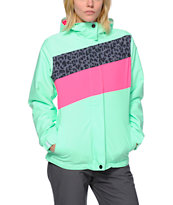 Empyre Girls Sidereal Green Colorblock 10K Snowboard Jacket 2014