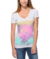 Empyre Girls Sky's The Limit White V-Neck Tee Shirt