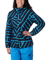 Empyre Girls Tell U Ride Blue Goe Print Snow Jacket