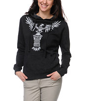 Empyre Girls Totem Heather Charcoal Pullover Hoodie