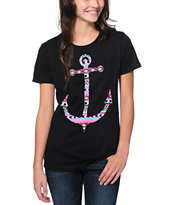 Empyre Girls Tribal Anchor Black Tee Shirt
