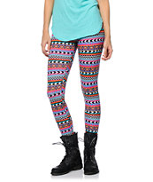 Empyre Girls Tribal Print Stripe Leggings
