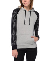 Empyre Girls Unity Grey & Black Pullover Hoodie