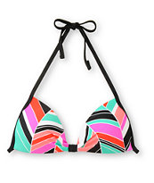 Empyre Girls Variant Chevron Stripe Molded Cup Bikini Top