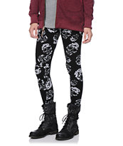Empyre Girls White Skulls Black Leggings