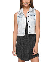 Empyre Girls Willow Light Wash Studded Denim Vest