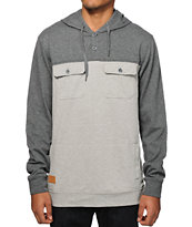 Empyre Got it 2 Tone Henley Hooded Shirt