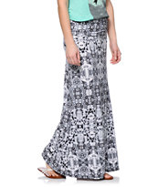 Empyre Grey Mirrored Tie Dye Maxi Skirt