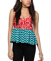 Empyre Griffith Chevron Tribal Crop Tank Top