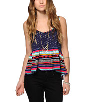 Empyre Griffith Mixed Tribal Crop Tank Top