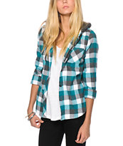 Empyre Hampton Teal Flannel Shirt