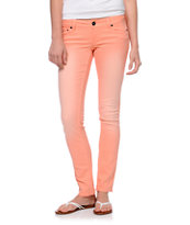 Empyre Hannah Peach Cobbler Coral Skinny Jeans
