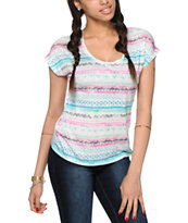 Empyre Hatfield Multicolor Tribal Dolman Tee