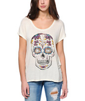 Empyre Hatfield Skull Cream Dolman T-Shirt