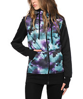 Empyre Hayden Black & Galaxy Tech Fleece Jacket