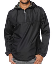 Empyre Heist Black Pullover Technical Rain Jacket