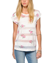 Empyre Howard Floral Burnout Tee Shirt