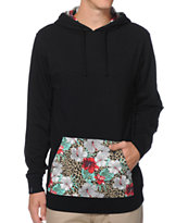 Empyre Impromptu Black Floral Hooded Knit Shirt