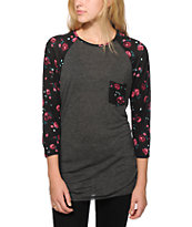 Empyre Indira Abstract Floral Baseball Tee