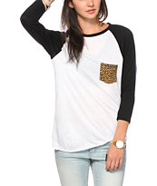 Empyre Indira Cheetah Pocket Baseball T-Shirt