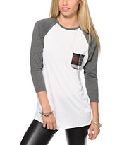 Empyre Indira Plaid Pocket Baseball Tee