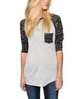 Empyre Indira Printed Sleeve Baseball T-Shirt