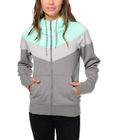 Empyre Insignia Mint & Grey Colorblock Tech Fleece Jacket