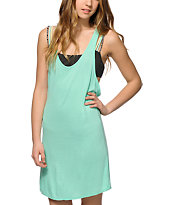 Empyre Ivory Mint Macrame Back Dress