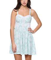Empyre Janessa Mint & White Cage Back Dress