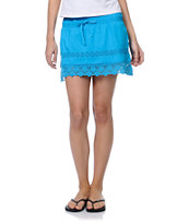 Empyre Jeslynn Lace Trim Bright Blue Skirt