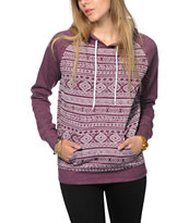 Empyre Jessie Blackberry Burnout Tribal Hoodie