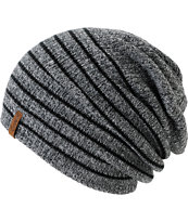 Empyre Juliet Black & Charcoal Stripe Beanie
