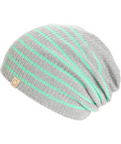 Empyre Juliet Grey & Mint Stripe Beanie