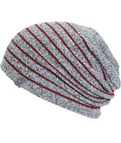 Empyre Juliet Heather Grey & Blackberry Stripe Beanie