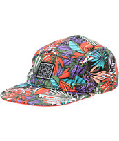 Empyre Jungalow Floral Print 5 Panel Hat