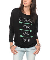 Empyre Kaden Choose Your Path Dolman Top