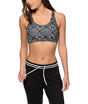 Empyre Kai Black & White Tile Print Crop Tank Top