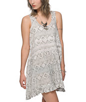 Empyre Katia Crochet Inset Tribal Dress