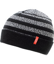Empyre Keifer Black & White Stripe Fold Beanie