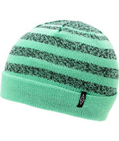 Empyre Keifer Mint & Black Stripe Fold Beanie