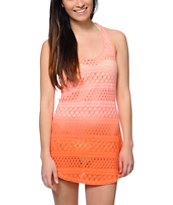 Empyre Kierra Coral Dip Dye Crochet Dress