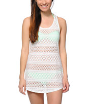 Empyre Kierra White Crochet Dress