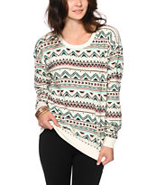 Empyre Laguna Multi Tribal Crew Neck Sweatshirt
