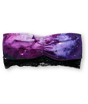 Empyre Laila Purple Galaxy Print Bandeau Top